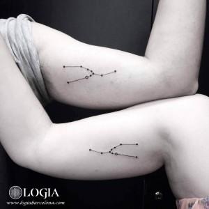 Tatuaje Constelacion walk-in tattoo - logia tattoo