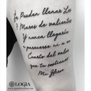 walk-in tattoo poema lettering