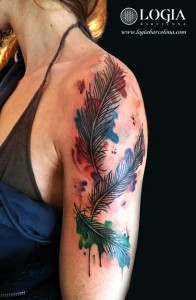 wallk-in tattoo plumas