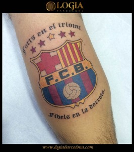 wallk-in tattoo escudo F.C.B.