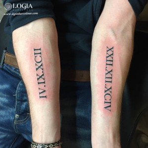 tatu walk-in letras romanas