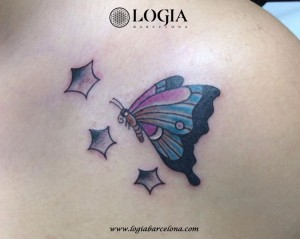 wallk-in tattoo mariposa