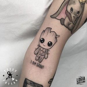 tatuaje_brazo_baby_groot_terry_logiabarcelona