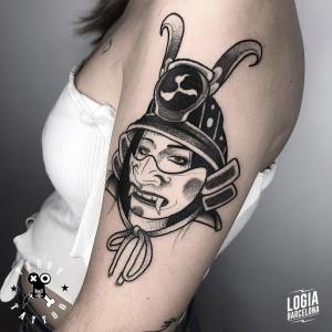 tatuaje_brazo_samurai_terry_logiabarcelona
