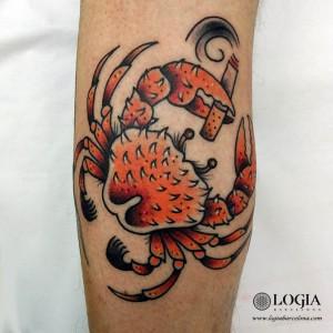 tatuaje-cangrejo-brazo-logia-barcelona-tokio