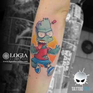 tatuaje-brazo-bart-zombie-tom-logia-barcelona