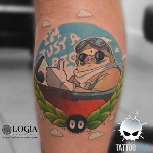 tatuaje-gemelo-porco-rosso-tom-logia-barcelona