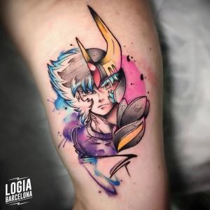 tatuaje_brazo_caballero_del_zodiaco_logia_barcelona_yeik