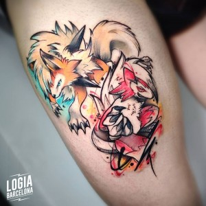 tatuaje_muslo_pokemon_logia_barcelona_yeik