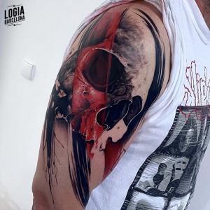 tatuaje_brazo_cañavera_tinta_roja_logiabarcelona_javier_jas