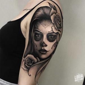 tatuaje_brazo_katrina_chicana_logiabarcelona_javier_jas